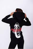 Худі спортивний жіночий Freever SF 5401 чорно-білий з червоним, фото 2