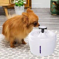 Автоматический фонтанчик APPLE поилка для животных с подсветкой + 5 фильтров и ПОДАРКИ