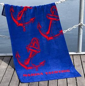 Полотенце Lotus пляжное - Marina Yachting 75*150 велюр