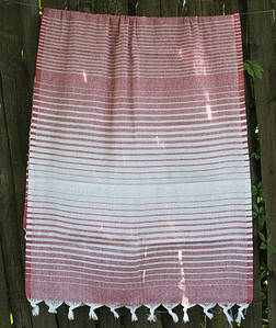Полотенце Lotus Pestemal - Red 02 75*150 Micro stripe
