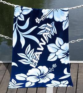Полотенце Lotus пляжное - Hawaii 75*150 велюр