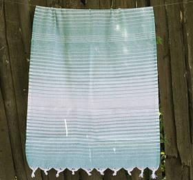 Полотенце Lotus Pestemal - Green 10 75*150 Micro stripe