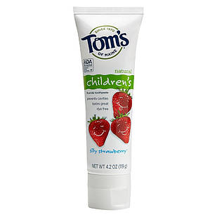 Tom's of Maine children's Natural Fluoride зубна паста для молочних зубів дітям 2-6 років 144 гр