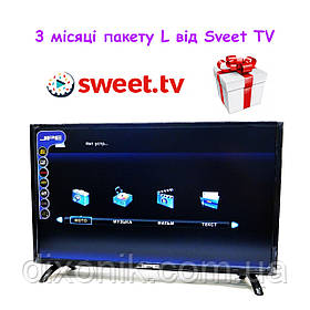 "Смарт телевизор JPE 39"" Smart TV WiFi LCD LED Android большой экран + 3 месяца подписки на Sweet TV пакет L"