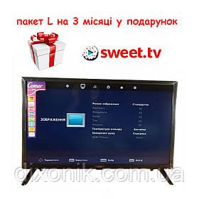 """Смарт телевизор Comer LED 24"""" Smart TV WiFi T2, Android HDMI + 3 месяца подписки на Sweet TV пакет L"""