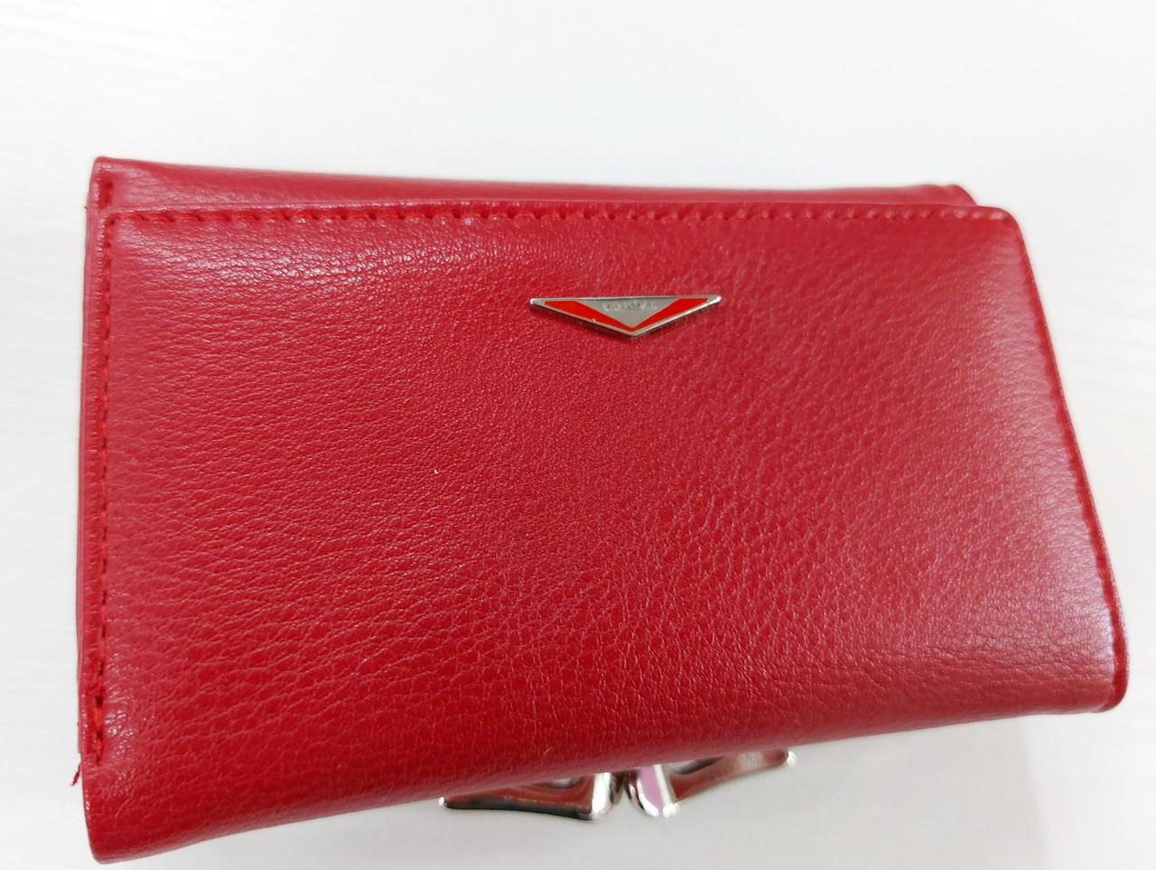 Женский кошелек Balisa C7684 красный Небольшой женский кошелек с искусственной кожи закрывается на кнопку