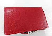 Женский кошелек Balisa C7684 красный Небольшой женский кошелек с искусственной кожи закрывается на кнопку, фото 3
