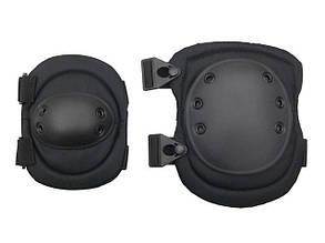 Комплект наколенники и налокотники тип ALTA – BLACK [8FIELDS] (для страйкбола)
