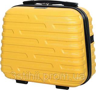 Косметичка  дорожная Vip Collection Costa Brava 14 Yellow Жёлтая