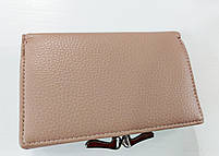 Жіночий гаманець Balisa C7684 пудра Невеликий жіночий гаманець з штучної шкіри закривається на кнопку, фото 2