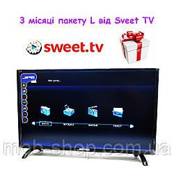 """Смарт телевізор JPE 39"""" Smart TV WiFi LCD LED Android великий екран + 3 місяці підписки на Sweet TV пакет L"""