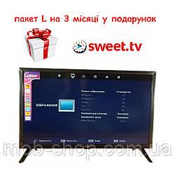 "Смарт телевізор Comer LED 24"" Smart TV WiFi T2 Android HDMI + 3 місяці підписки на Sweet TV пакет L"