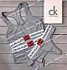 Набор женского белья Calvin Klein Monogram Black Реплика, фото 3