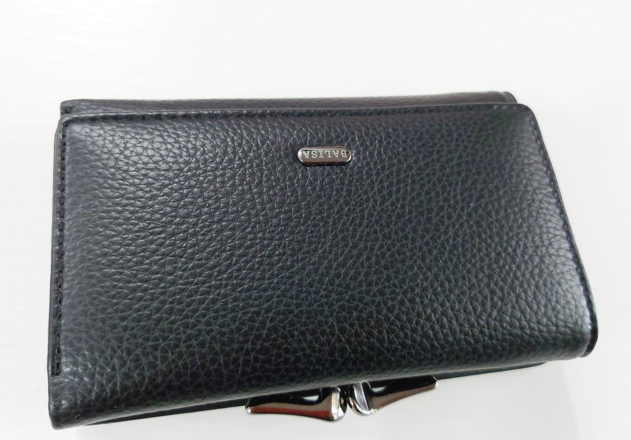 Женский кошелек Balisa C7684 черный  Небольшой женский кошелек с искусственной кожи закрывается на кнопку