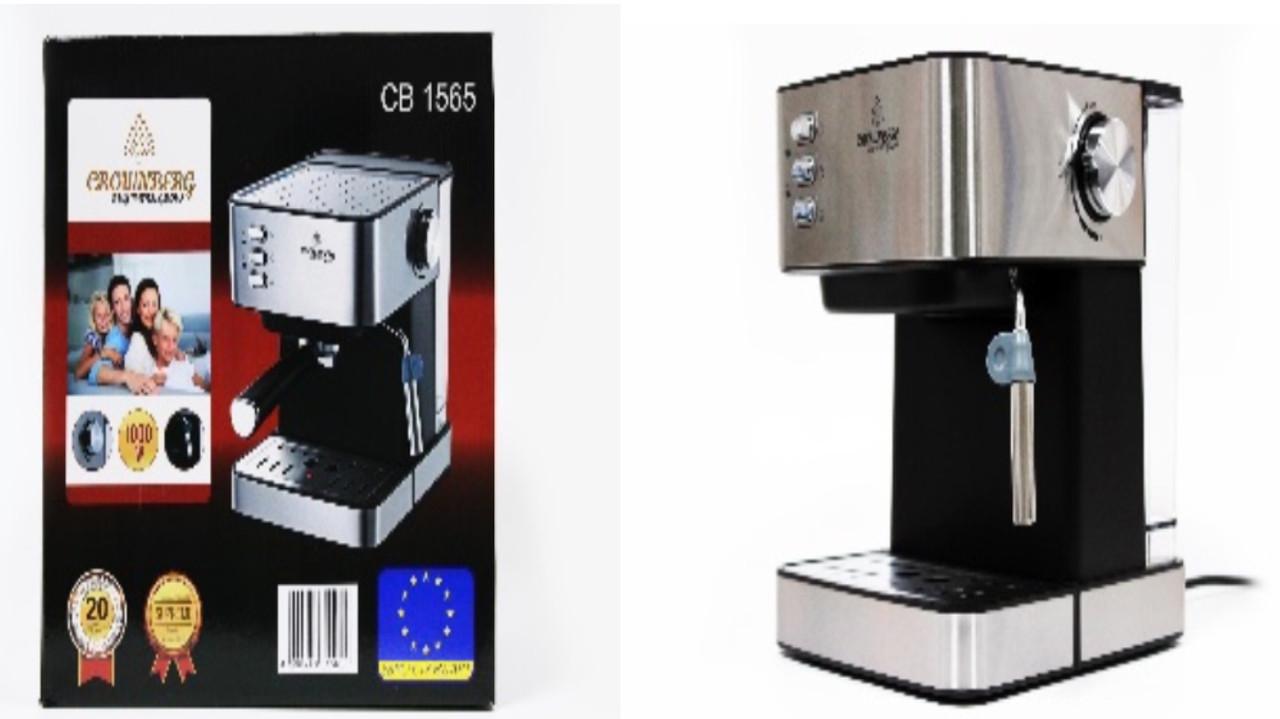 Кофемашина Crownberg напівавтомат з капучинатором