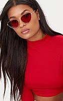 Модные солнцезащитные очки красные очки