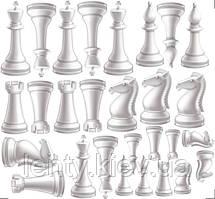 """Наклейка на коробку-сюрприз велику 70х70 см """"Шахові фігури / шахи"""""""