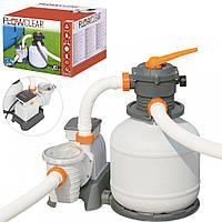 Песочный фильтр насос Bestway 7751 литров /час Фильтрационная установка для бассейна