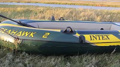 Двухместная надувная лодка Intex 68347 Seahawk 2 Set, 236 х 114 см, веслами и насосом, фото 2