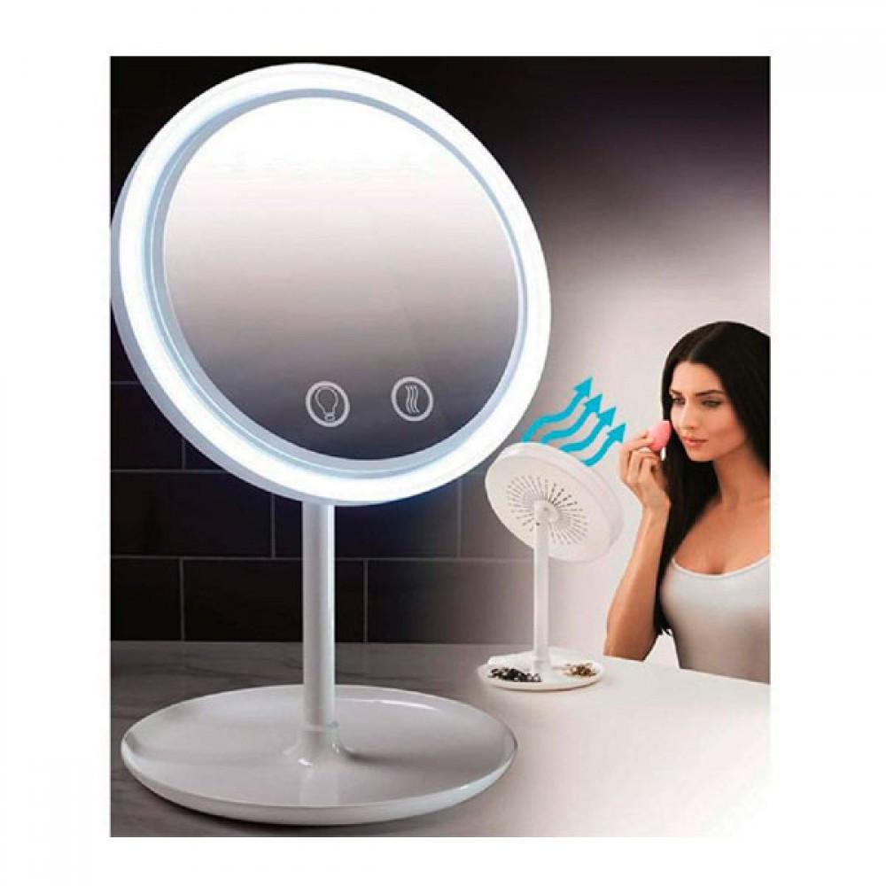 Зеркало с вентилятором для мейкапа COSMO MIRROR LED