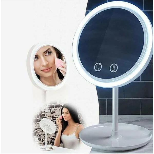 Дзеркало з вентилятором для макіяжу COSMO MIRROR LED