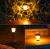 """Газонный светильник пламя, упак/6шт. на солнечной батарее, """"Мерцающий фонарь-домик"""""""