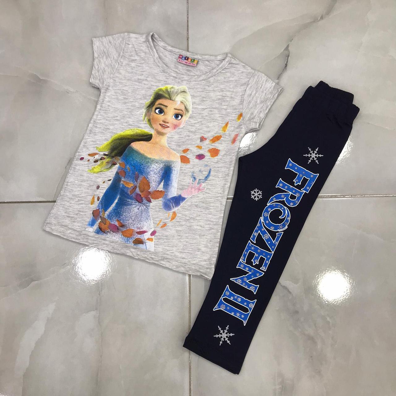 Детский летний костюм 1-8 лет для девочек Турция оптом