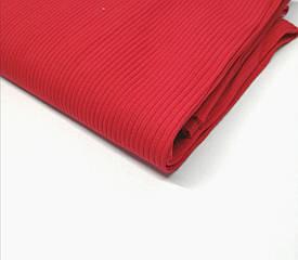 Трикотаж рубчик лапша Красный