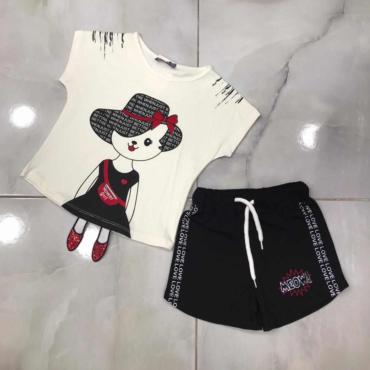 Детский летний костюм 4-9 лет для девочек Турция оптом