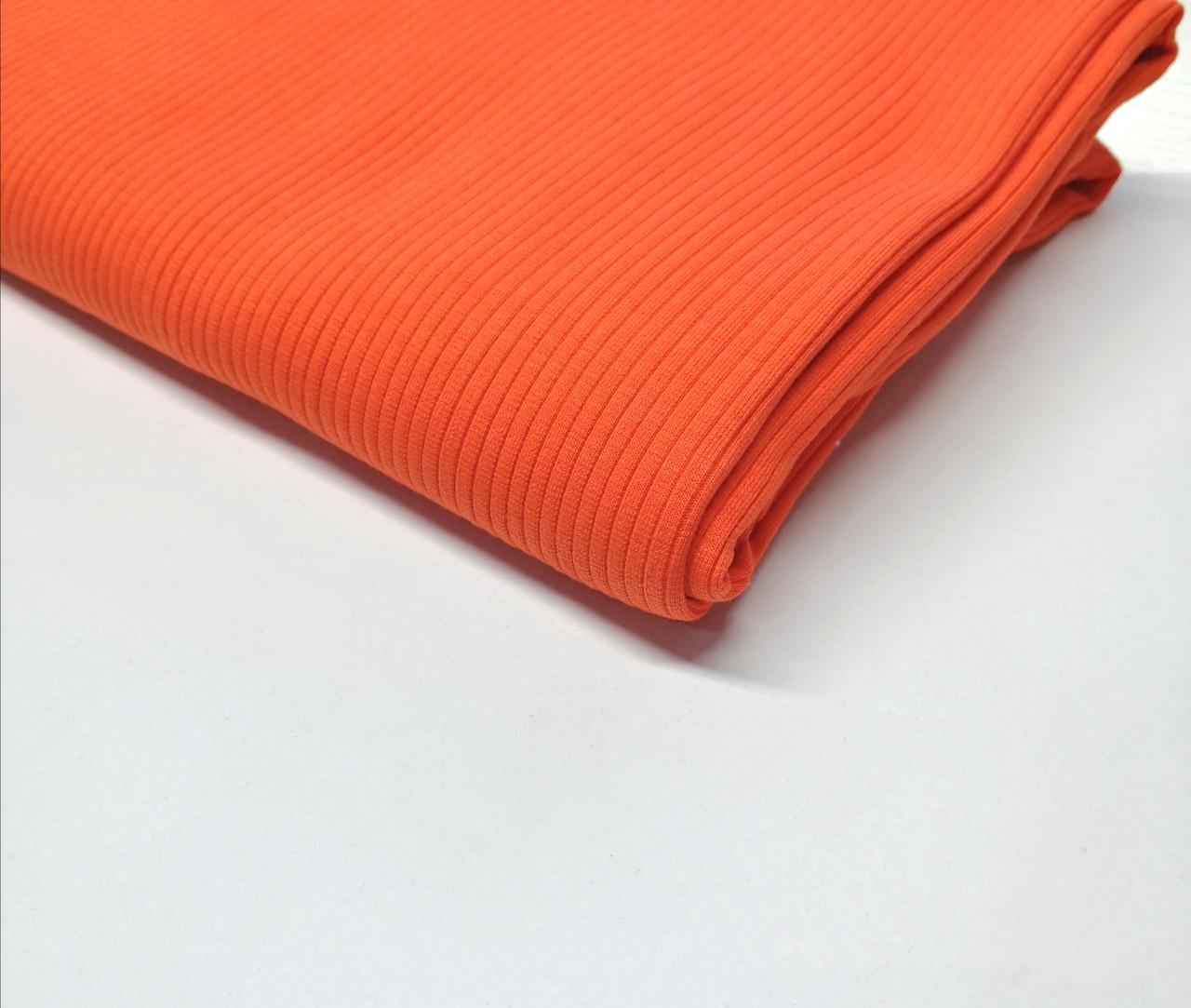 Трикотаж рубчик лапша Оранжевий