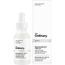 The Ordinary - Niacinamide 10% + Zinc 1 %, Сыворотка с витамином В3 и цинком 30 ml Скидка! Упаковка примята!