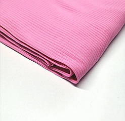 Трикотаж рубчик лапша Розовый