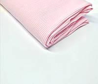 Трикотаж рубчик лапша Світло рожевий, фото 1