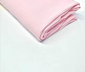 Трикотаж рубчик лапша Светло розовый