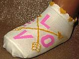 Шкарпетки дитячі укорочені рільефний малюнок бавовняні Bross сіточка, фото 2