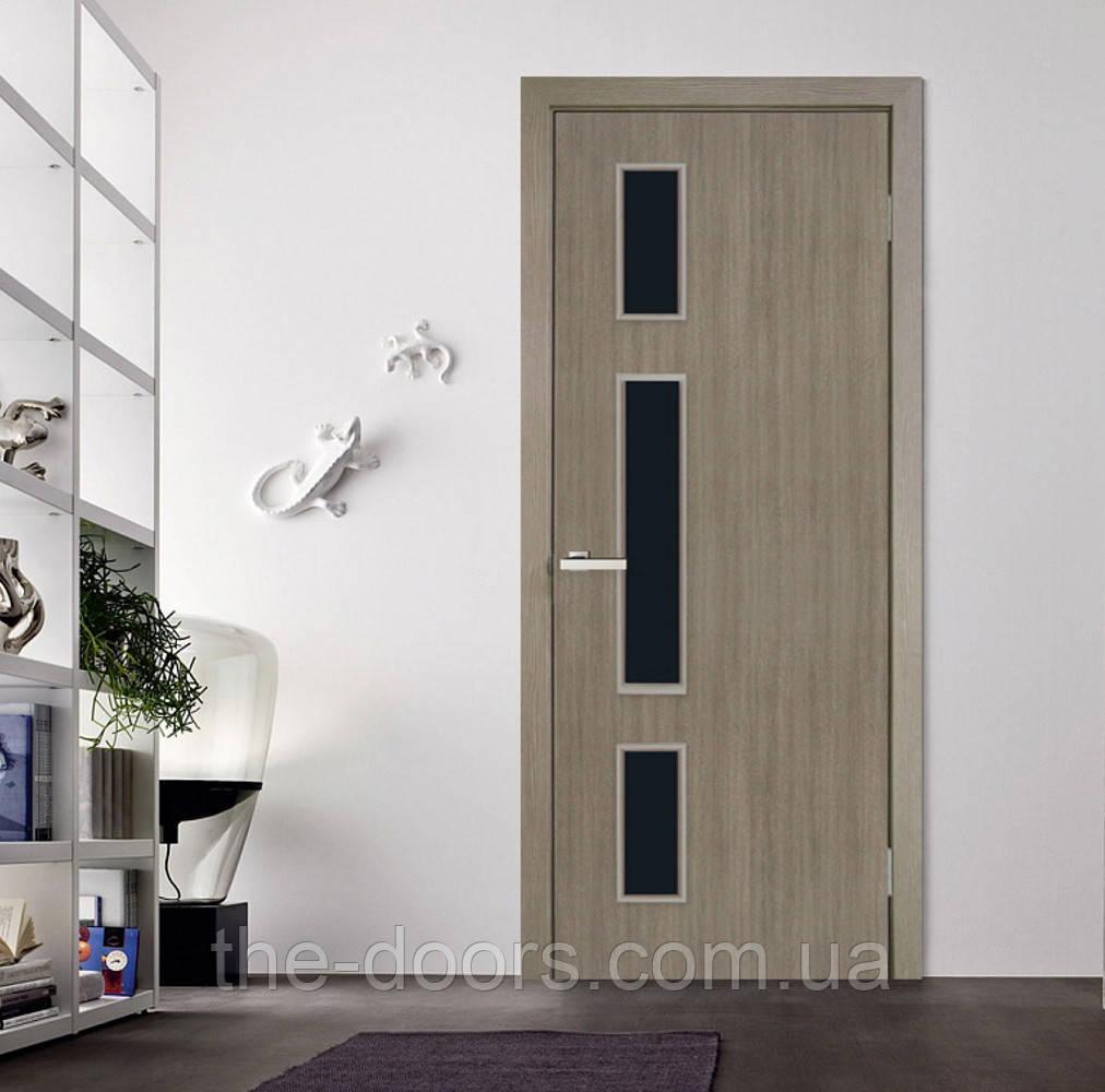 Двери межкомнатные ОМиС Соло стекло ЧС