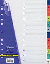 Цифровой индекс-разделитель для регистраторов А4, (цифры от 1 до 12), 12 позиций BM.3212