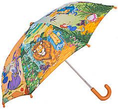 Облегченный детский зонт-трость механический ZEST (ЗЕСТ) Z21565-4 Волшебник из изумрудного города