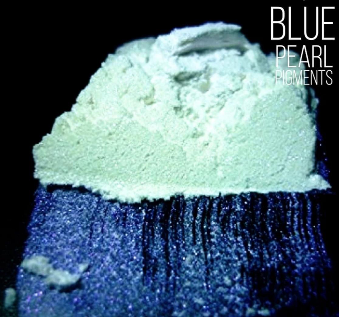 """Пудра для декорирования """"Blue Interference"""" синий интерференс,"""