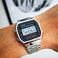 Классические металлические часы Casio F-91W Illuminator Silver, класичний металевий годинник Касіо