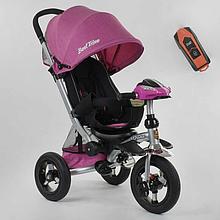 Велосипед триколісний 698/32-110 Best Trike фара з USB, надувні колеса, пульт, телескопічна ручка