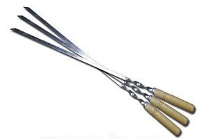 Шампур с деревянной ручкой 60 см 2 мм