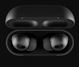Беспроводные наушники Apple Airpods pro Вакуумные bluetooth Аирподсы для Iphone, android Люкс копия 1в1 Черные, фото 3