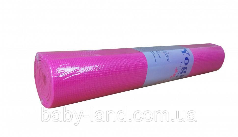 Йогамат, килимок для йоги MS1847 матеріал ПВХ ((Рожевий))