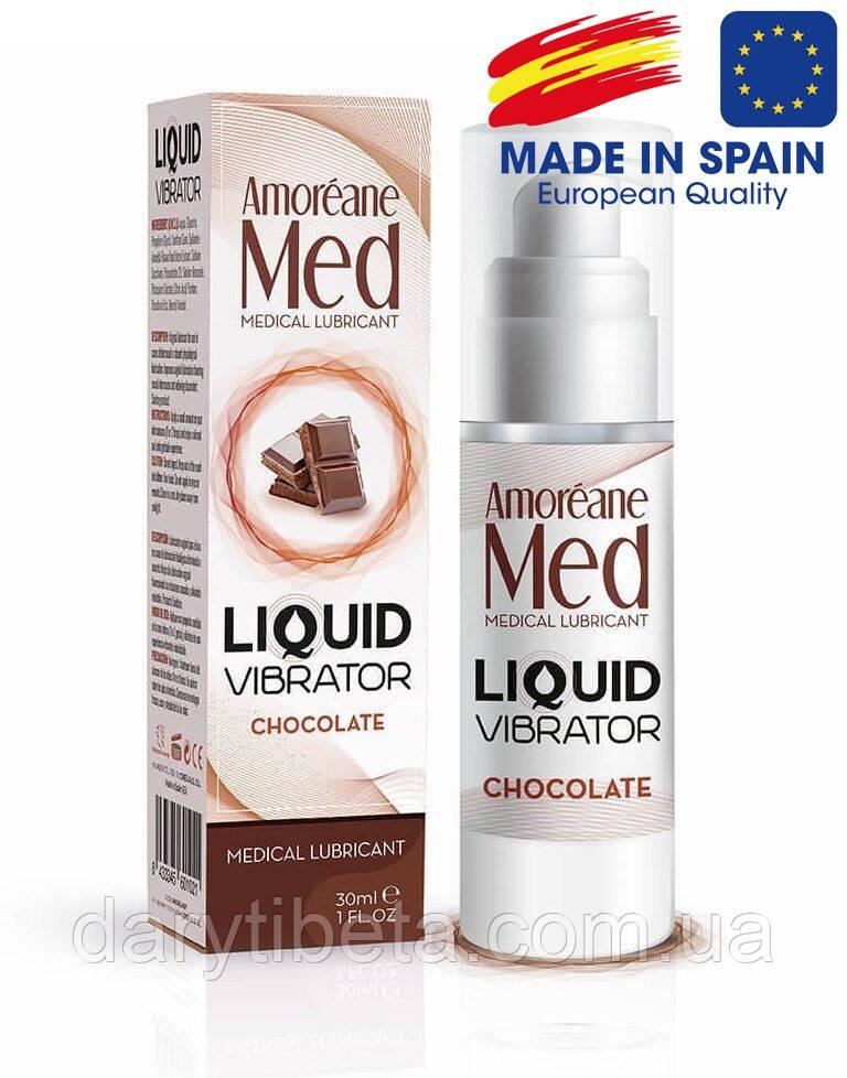 Стимулирующий лубрикант Amoreane Med: Liquid vibrator Chocolate Шоколад (жидкий вибратор), 30 ml, Испания