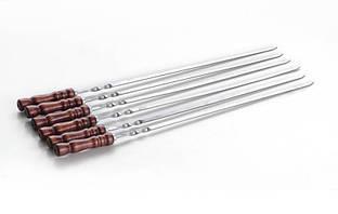 Шампур с деревянной ручкой 70 см 3 мм