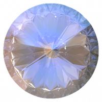 Пришивные риволи Preciosa (Чехия) 12 мм Crystal AB U/серебро