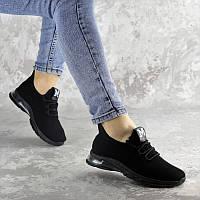 Женские летние кроссовки сетка Fashion Zork черного цвета