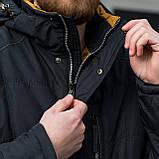 Чоловіча демісезонна стьобана куртка Black Wolf, синього кольору, фото 3