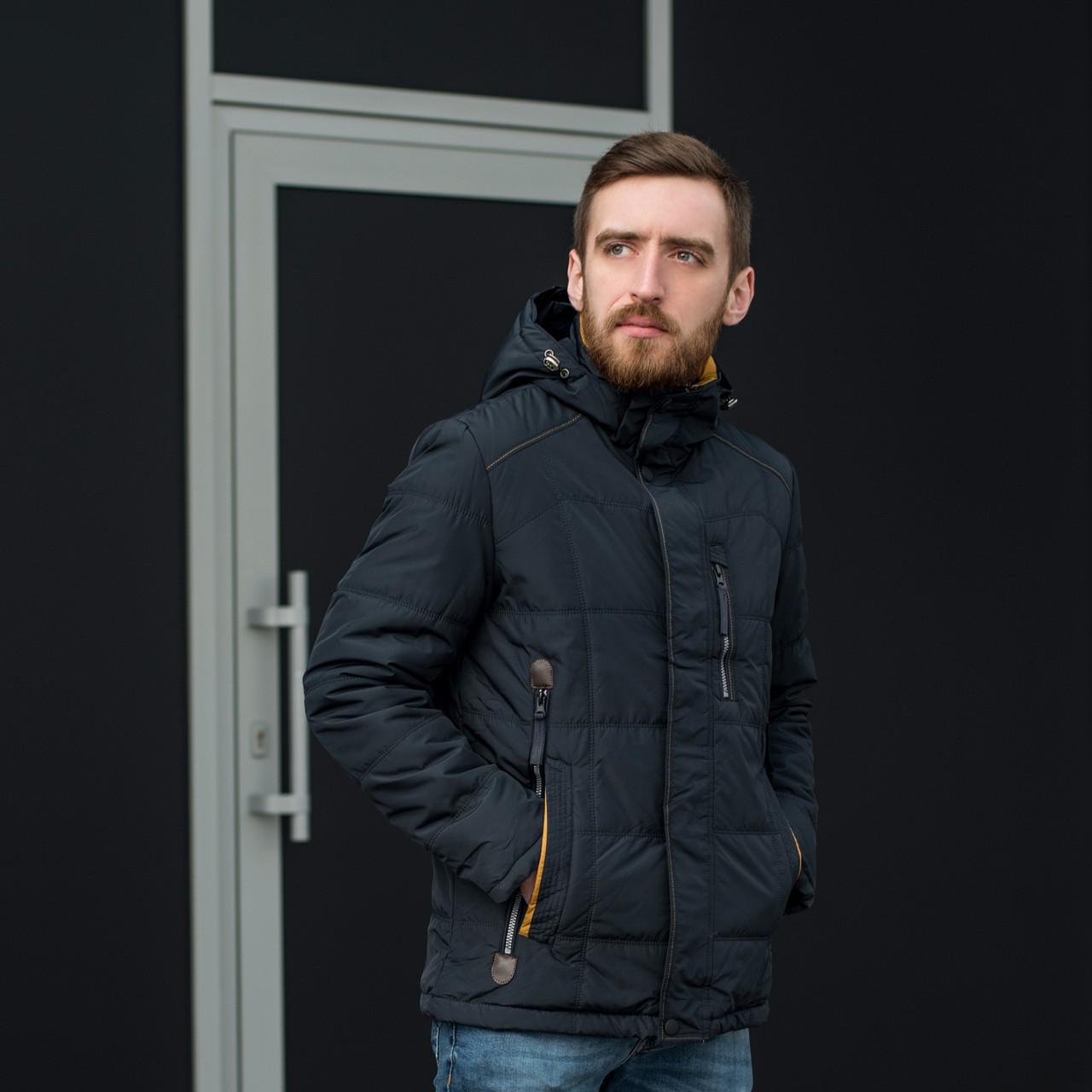 Чоловіча демісезонна стьобана куртка Black Wolf, синього кольору
